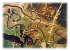 Aerial view of the newly meandering Skjern