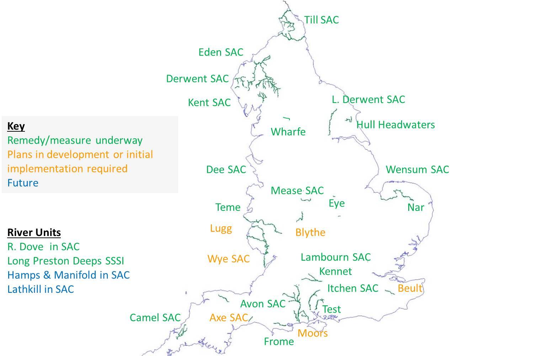 SSSI Restoration Map